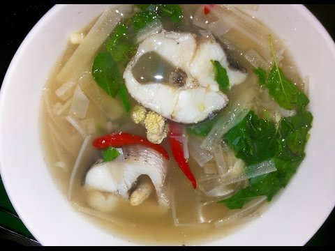 Asian Food - Sweet And Sour Soup Of Banana Stems With Fish - Youtube