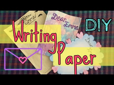 DIY WRITING PAPER (3 letter design ideas!) ♡