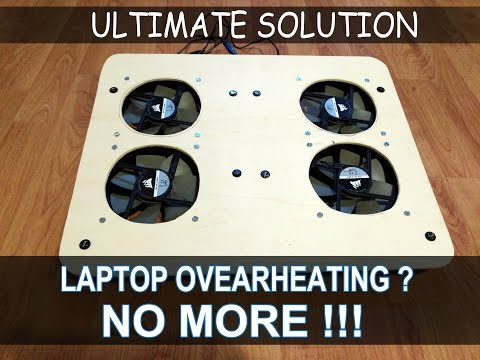 SOLUTION TO ANY OVERHEATING LAPTOP !  DIY-  COOLING PAD MADE FROM WOOD