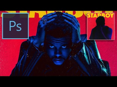 Recreating The Weeknd Starboy Album Cover Art in Photoshop CC ( Adobe Photoshop Tutorial)