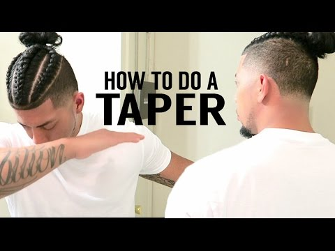 💈 SELF CUT | HOW TO DO A TAPER TUTORIAL | BRAIDED MAN BUN