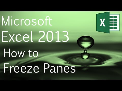 Excel 2013 for Beginners: How to Freeze Panes