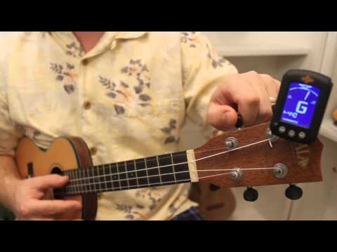 Lesson 12: How to Tune a Ukulele with an Electronic Tuner - Ukemanfischer