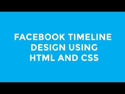 Facebook Timeline Design using HTML and Bootstrap