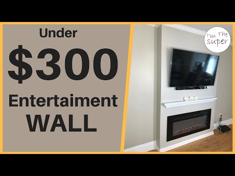 Entertainment Wall : Living Room Accent Wall Fireplace/TV Combo Como Hacer How to