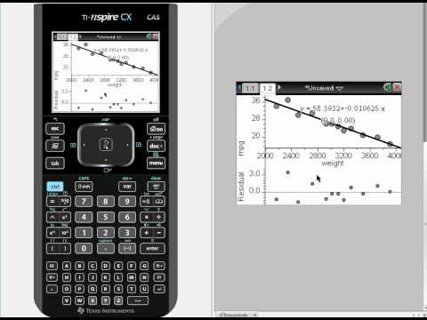 TI-NSPIRE Linear Regression t-test & Confidence Interval of slope
