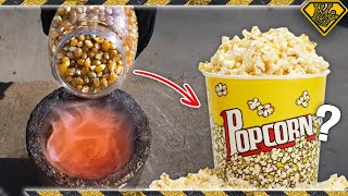 Molten Salt Poured on Popcorn
