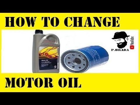 How to Change motor oil and filter in a car