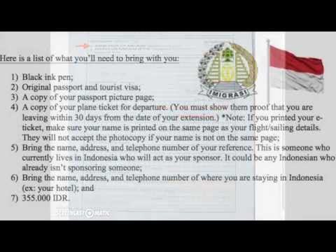 Extend Your Indonesian Tourist Visa- Quick Know-Hows