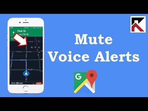 How To Mute Voice Alerts Google Maps iPhone
