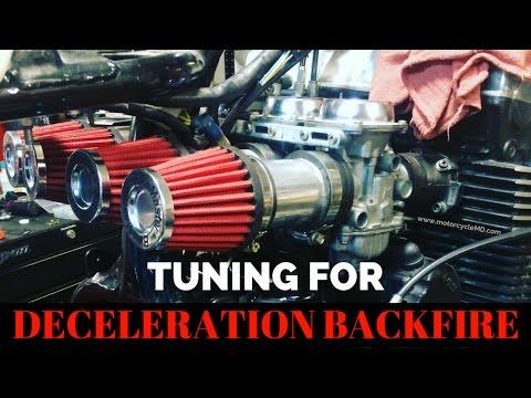 Deceleration Backfire: Tuning your carburetor