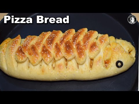 New Pizza Bread Recipe - How to make Pizza Chicken Bread - Kitchen With Amna