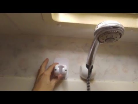 Review and Installation of an Adjustable Shower Head/Wand Holder ~ Put The Water Where You Want It!!