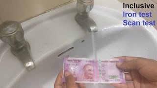 3 TEST ON Rs. 2000 note | WATER TEST | IRON TEST | SCAN TEST |