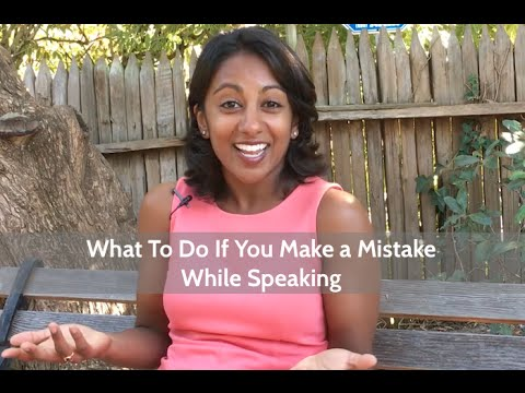 What to Do When You Make a Mistake When Speaking | Poornima Vijayashanker