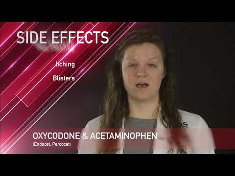 Oxycodone & Acetaminophen Medication Information (dosing, side effects, and patient counseling)