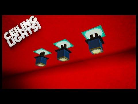 Minecraft - How To Make Nice Lighting (Ceiling Lights)