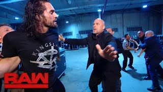 Seth Rollins ambushes Samoa Joe: Raw, May 8, 2017