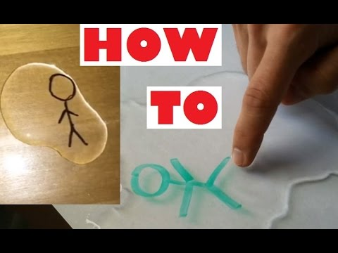 DIY Magic water marker ( HOW TO / Explanation VIDEO ) Stickman