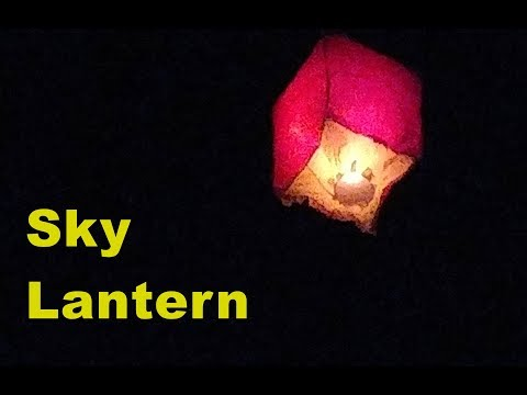 How to Make a Sky Lantern for Christmas/ New Year  - Flies LONG Distance