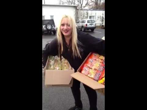 Donating food hurricane sandy relief