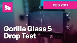 Gorilla Glass 5 Drop Test from CES 2017