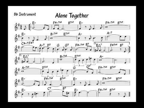 Alone together - Play along - Bb version