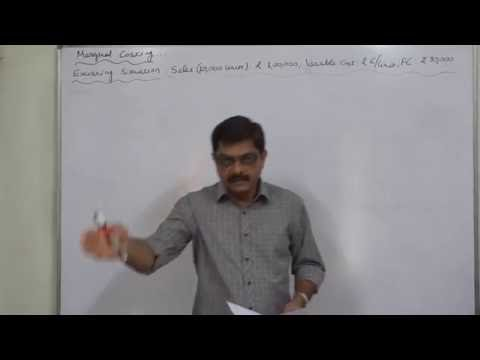Marginal Costing 8 BEP, PV Ratio, , Revised BEP, Reivsed PV Ratio etc Part   1 of 8