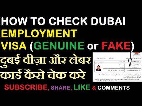 HOW TO CHECK DUBAI EMPLOYMENT VISA AND LABOUR CARD | दुबई वीज़ा और लेबर कार्ड कैसे चेक करे  | HINDI