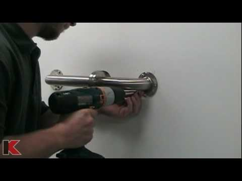 Grab Bar Installation on Tile Wall - Keeney Manufacturing