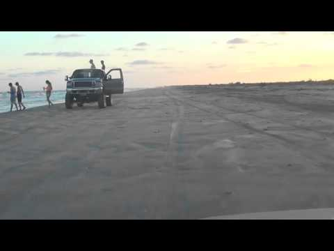 Beach Driving from San Bernard River to Sargent