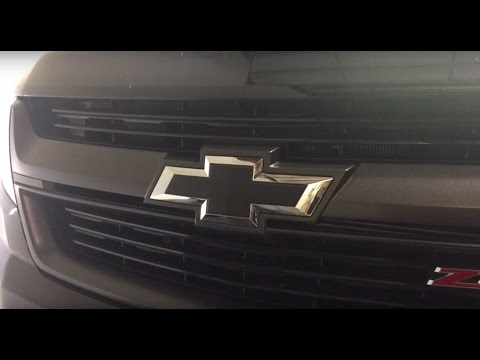 Chevy Emblem 3M Matte Black Wrap Color Change
