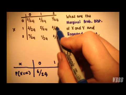 Joint Probability Distribution # 1 | Marginal Distributions & Expected Values