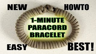 NEW 1-MINUTE Paracord Survival Bracelet HOWTO