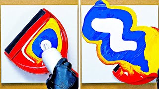 ART HACKS TO DO WHEN YOU'RE BORED || PAINT IDEAS FROM HOUSEHOLD ITEMS