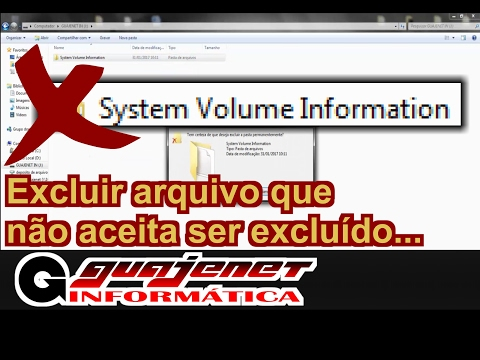 System Volume Information - Como deletar