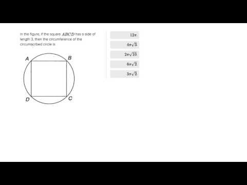 Calculating the circumference of the circumscribed circle