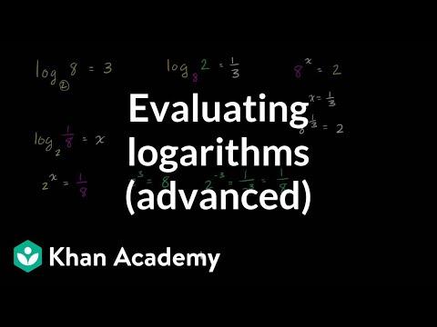 Fancier logarithm expressions   Logarithms   Algebra II   Khan Academy
