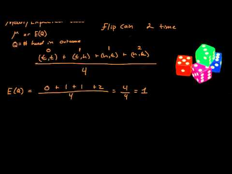 Mean & Expected Value - Probability