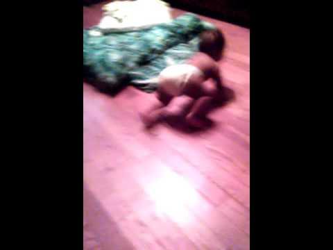 How to crawl on hardwood floors lol