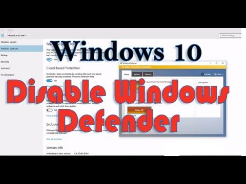 How to Disable Windows Defender in Windows 10 | বন্ধ করুন উইন্ডোজ ডিফেনডার উইন্ডোজ ১০ এ