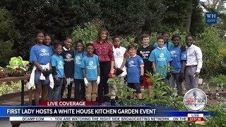 FIRST LADY MELANIA TRUMP Hosts a WHITE HOUSE Kitchen Garden Event 9/22/17