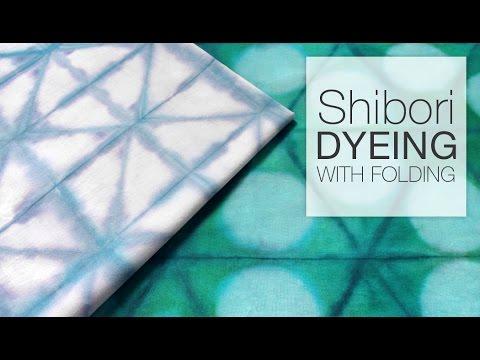 How to Dye Fabric - Shibori Folding Technique