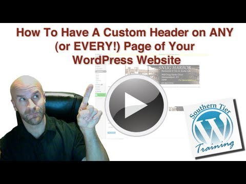WordPress: How to have a  Custom Header on ANY Page