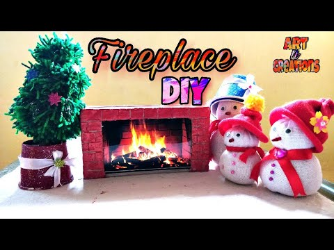 Christmas DIY Fireplace | DIY Christmas Fireplace | Mobile Phone Box Reuse | Best out of waste
