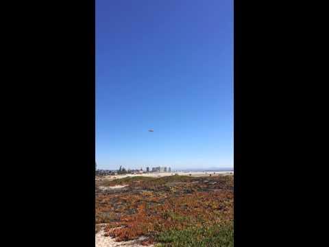 Low Fighter Jet Landing Over Beach in San Diego - Coronado