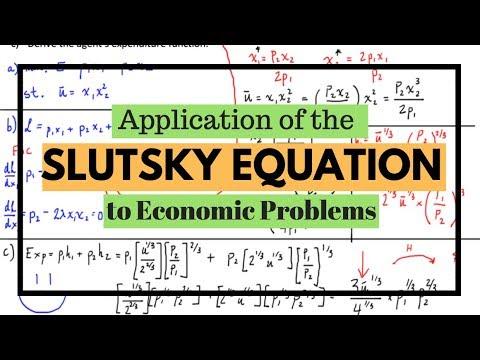 Deriving Hicksian (compensated) Demand Using the Slutsky Equation