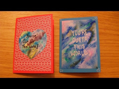 How To Make A Watercolour Galaxy Valentines Cards