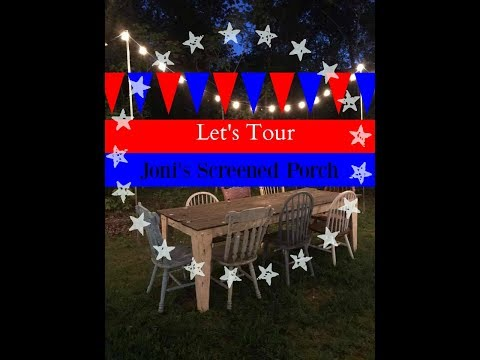 Patriotic Screened Porch Tour