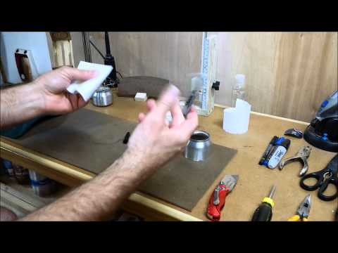 Alcohol Stove Groove stove variation